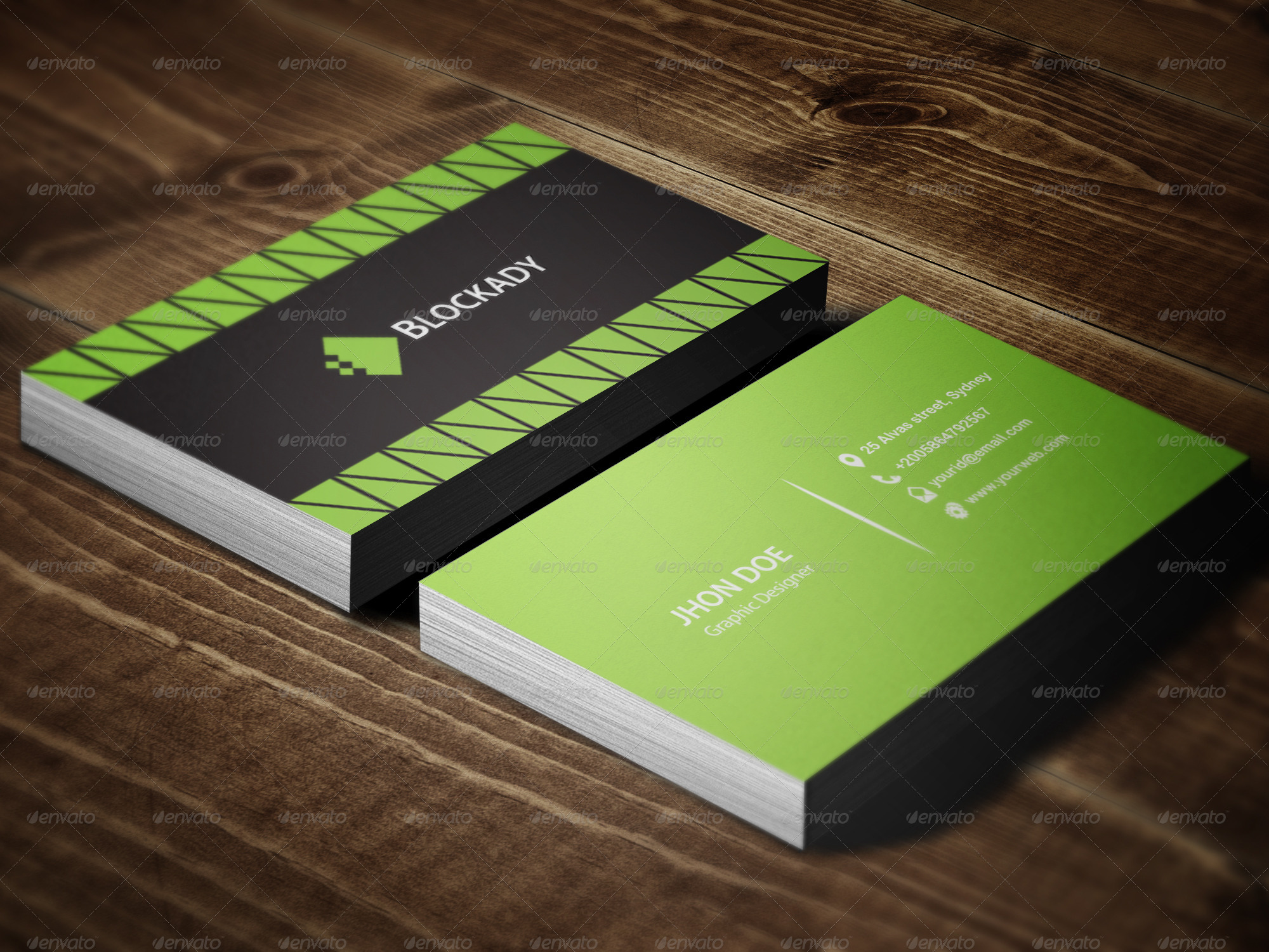 2 colors exclusive business card template by kazierfan