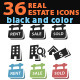36 Real Estate Icons in Black and Color - GraphicRiver Item for Sale