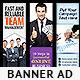Corporate Web Banner Set Bundle 8.0 - GraphicRiver Item for Sale