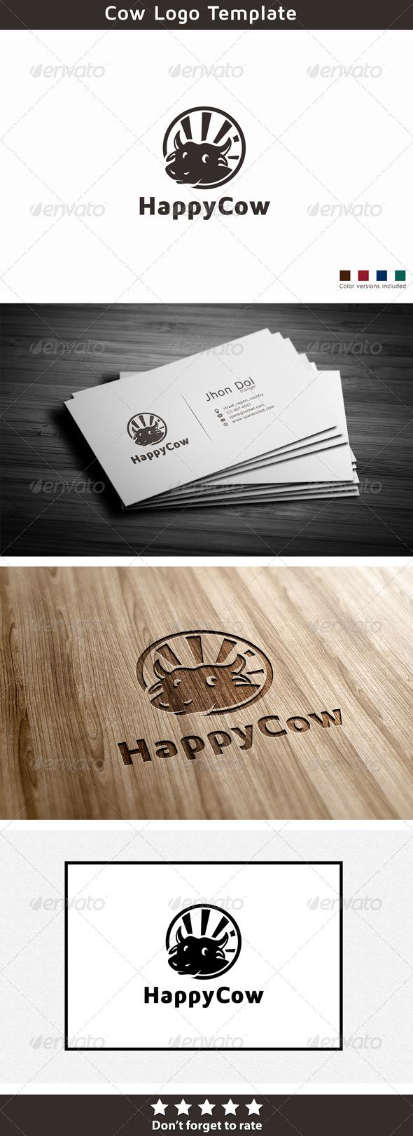 Happy Cow - Animals Logo Templates