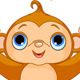Funny Monkey catching banana - GraphicRiver Item for Sale