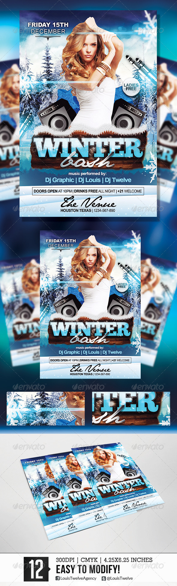 Winter Bash | Flyer Template - Clubs & Parties Events