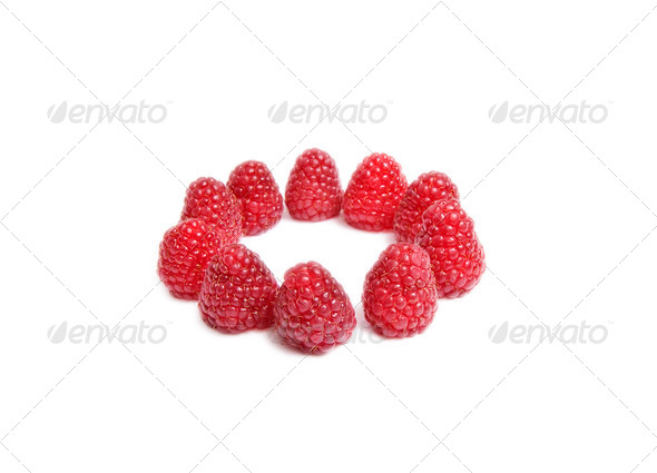 Tasty red berries on a white. - Stock Photo - Images