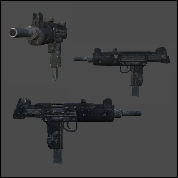 Uzi 9mm Machine Pistol - 3DOcean Item for Sale