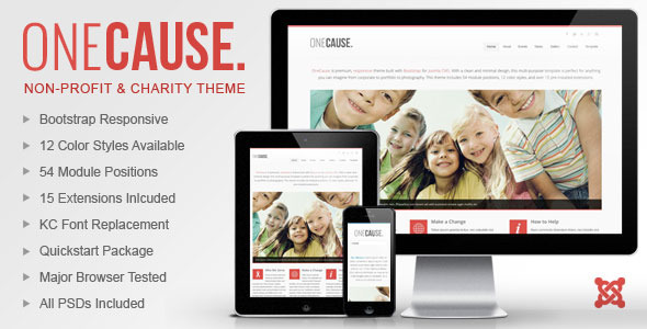 Image of OneCause - Charity & Non-Profit Joomla Theme