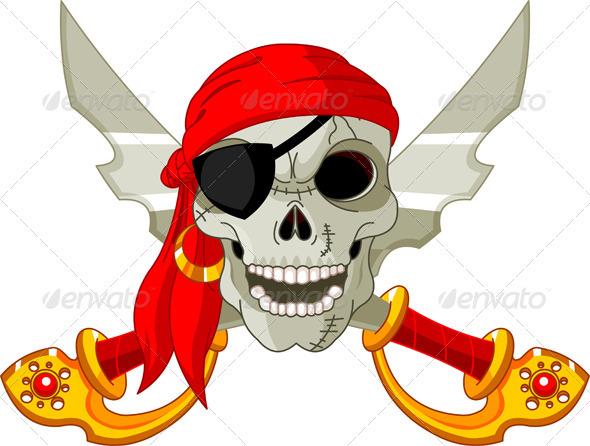 Pirate Skull - Decorative Symbols Decorative