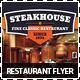 Steakhouse Restaurant & Food Promotions Flyer - GraphicRiver Item for Sale