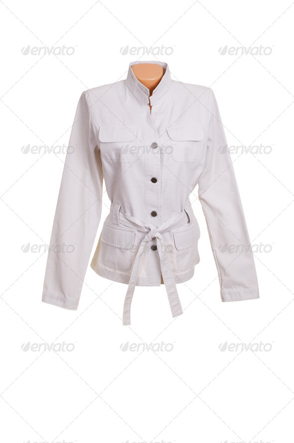 Chic stylish jacket on a white. - Stock Photo - Images