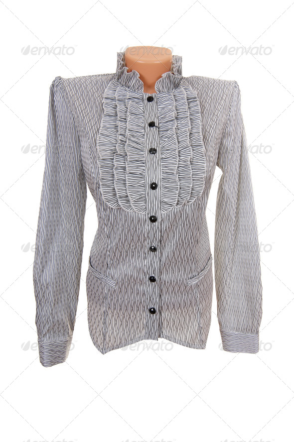 Elegant shirt on a white. - Stock Photo - Images