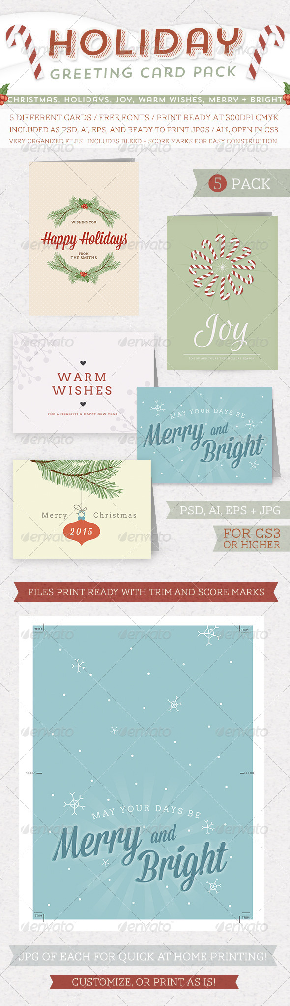 Holiday Greeting Card Pack - Holiday Greeting Cards