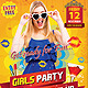 Girls party Flyer - GraphicRiver Item for Sale