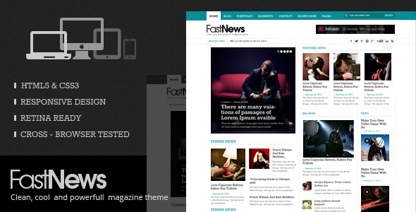 FastNews –  HTML5 Magazine Template