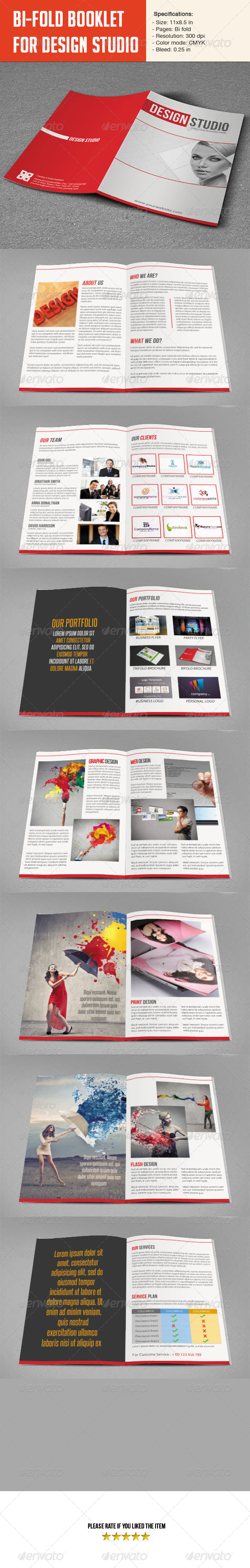 design studio brochure - bifold brochure for design studio by smmr graphicriver