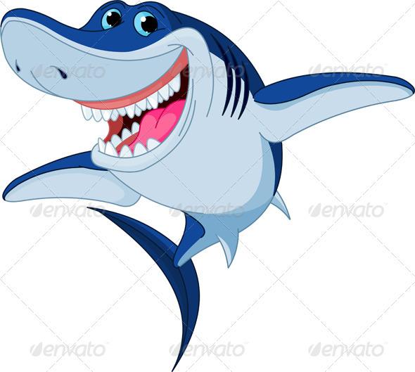 Cartoon  funny shark - Animals Characters