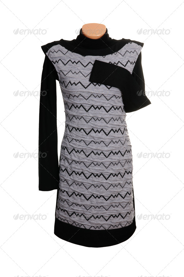 Chic luxury grey  dress. - Stock Photo - Images