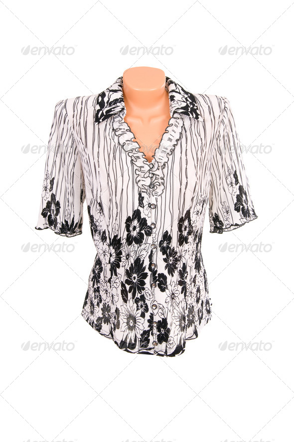 Modern blouse on a white. - Stock Photo - Images