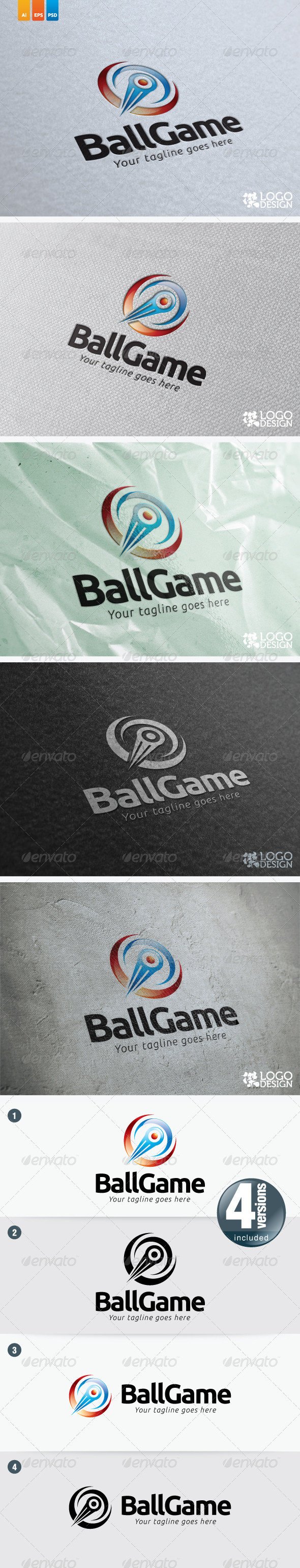 Ball Game - Objects Logo Templates