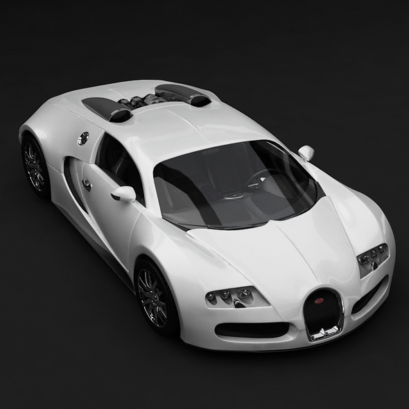 Veyron Bugatti - White - 3DOcean Item for Sale
