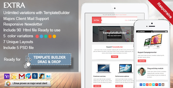 Extra – Responsive E-mail Template