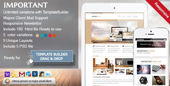 IMPORTANT-Responsive Email Template - Newsletters Email Templates