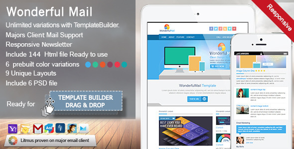 WonderfulMail – Responsive Email Template
