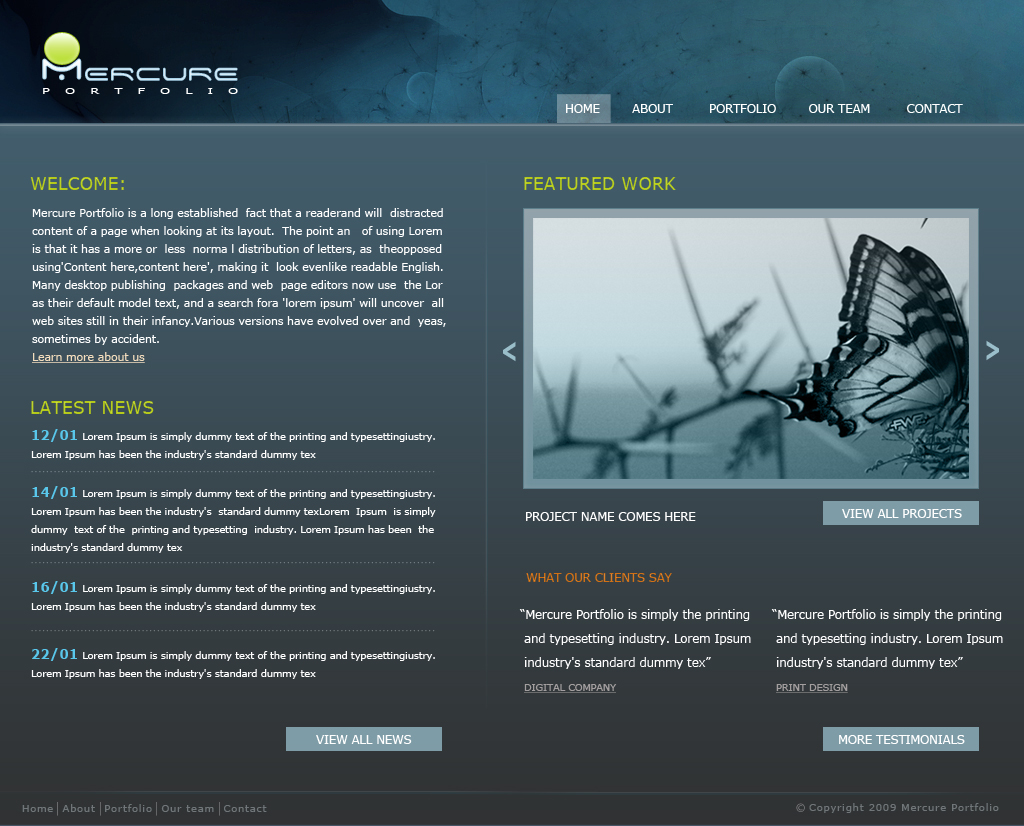 Free Download mercure portfolio Nulled Latest Version