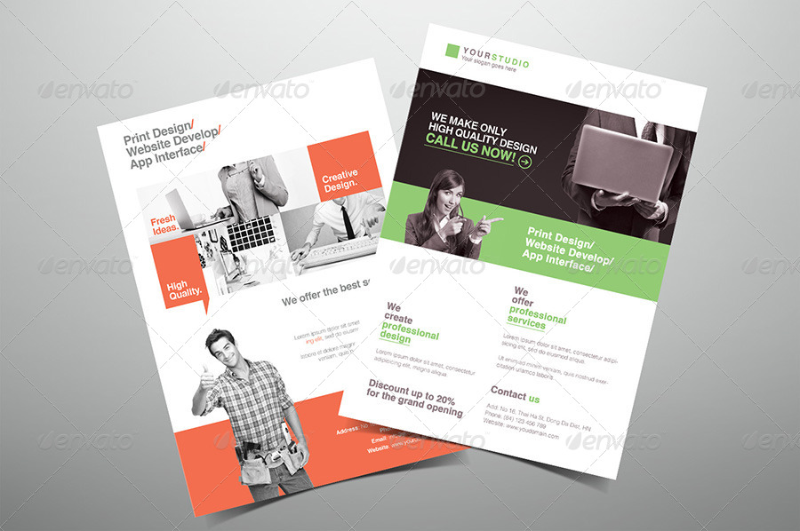 Creative Design Company Flyer by hoanggiang12   GraphicRiver