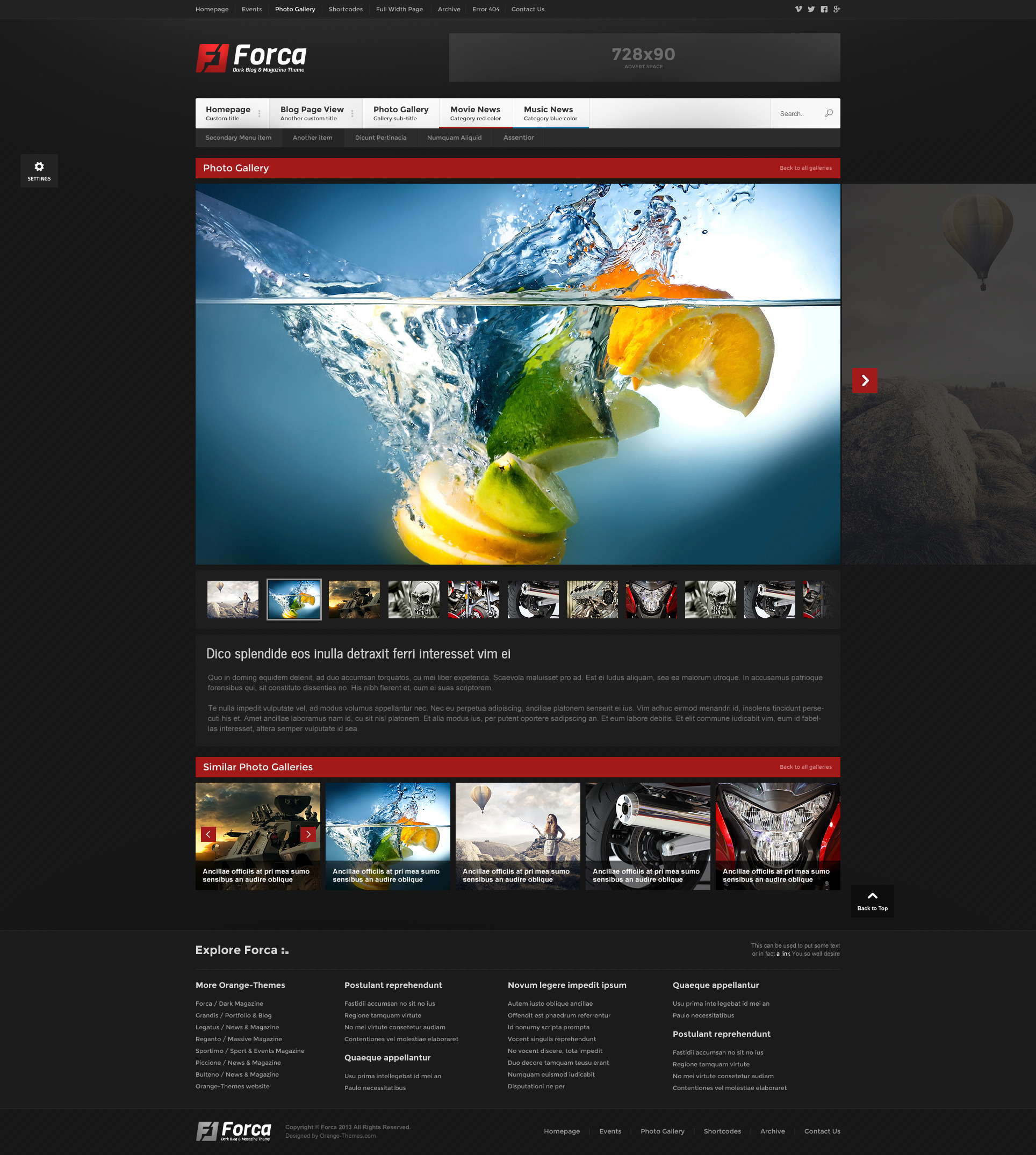 Forca - Responsive News/Magazine HTML Template by orange-themes ...