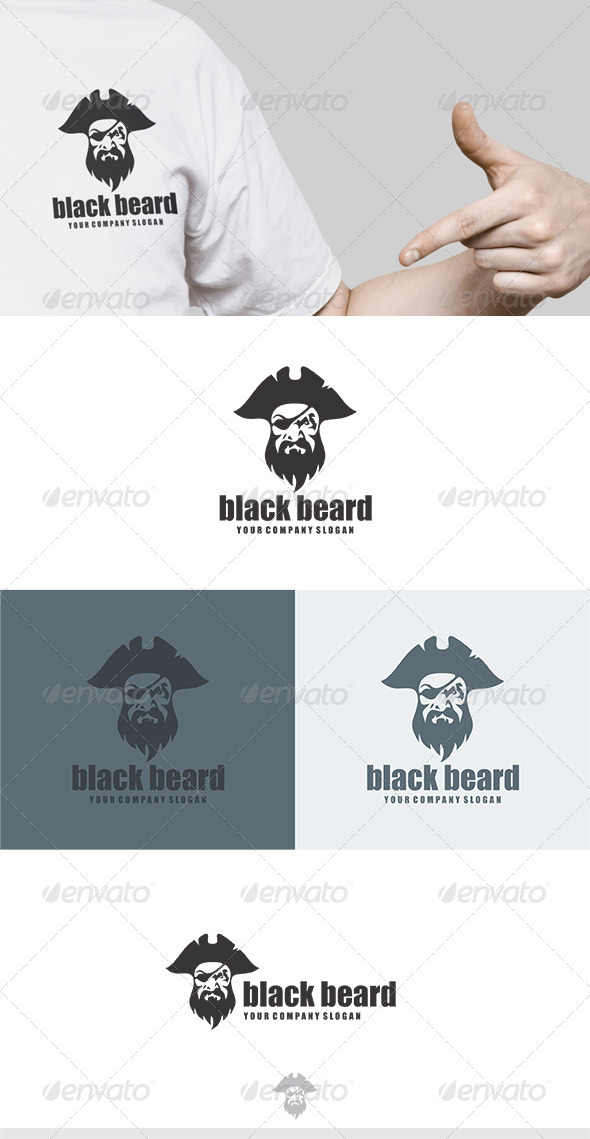 Black Beard Logo - Humans Logo Templates