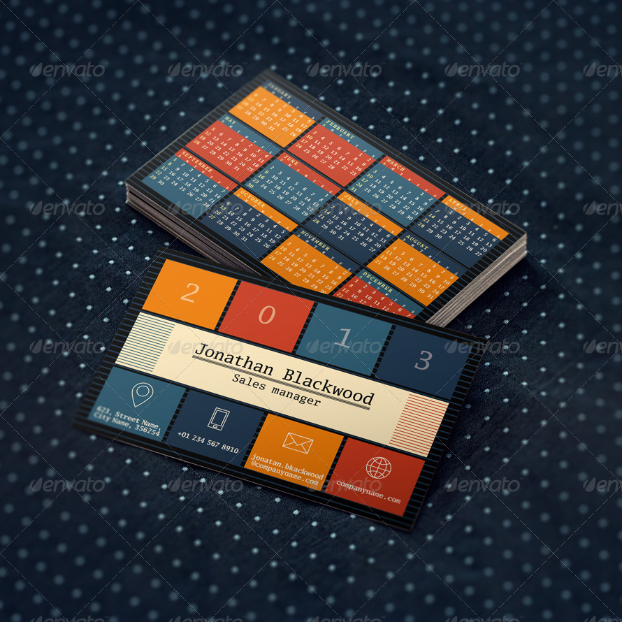 Business Card + Pocket Calendar 2013-2014-2015 by mikhailmorosin ...