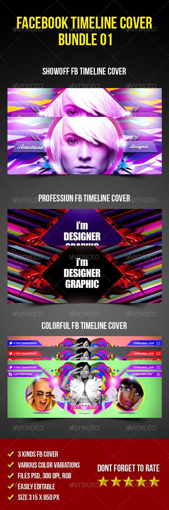 Facebook Timeline Cover Bundle 01 - Facebook Timeline Covers Social Media