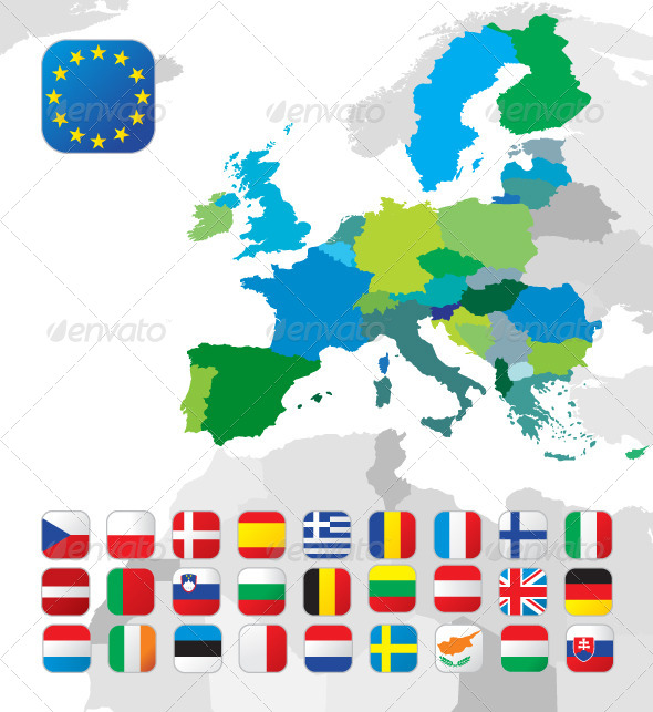 European Map - Miscellaneous Vectors