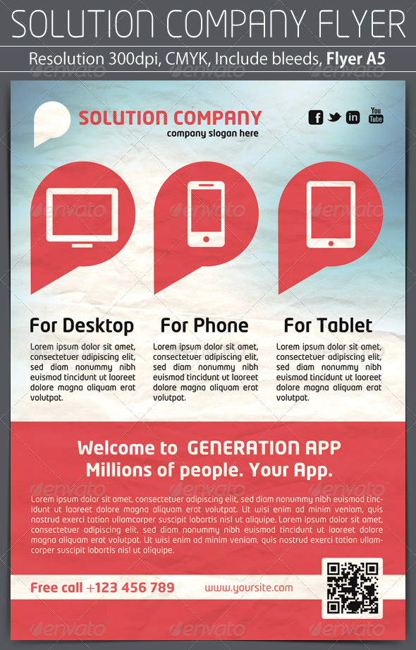 Solution Company Flyer - Corporate Flyers