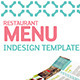 Restaurant Menu Indesign Template - GraphicRiver Item for Sale