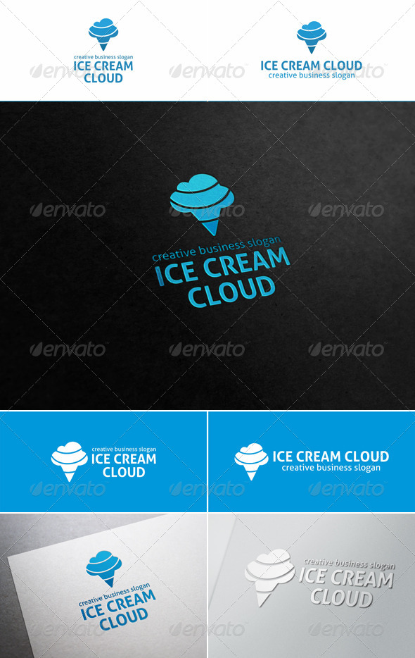 Ice Cream Cloud Logo - Objects Logo Templates