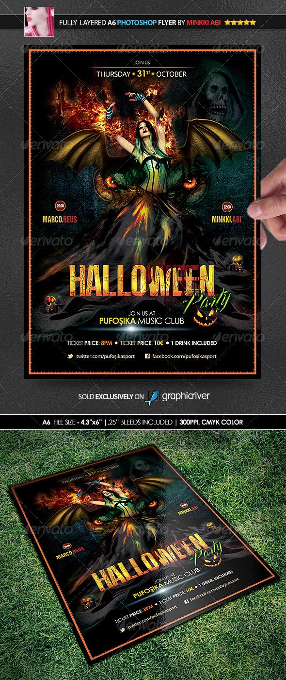 Halloween Poster/Flyer - Events Flyers