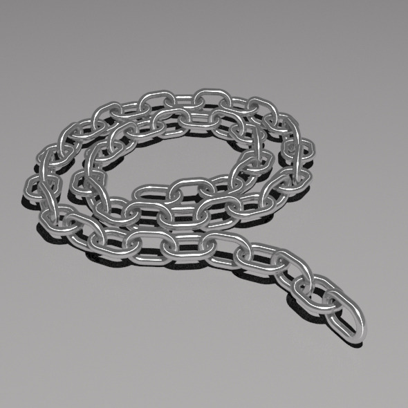 50 Link Poseable Chain - 3DOcean Item for Sale