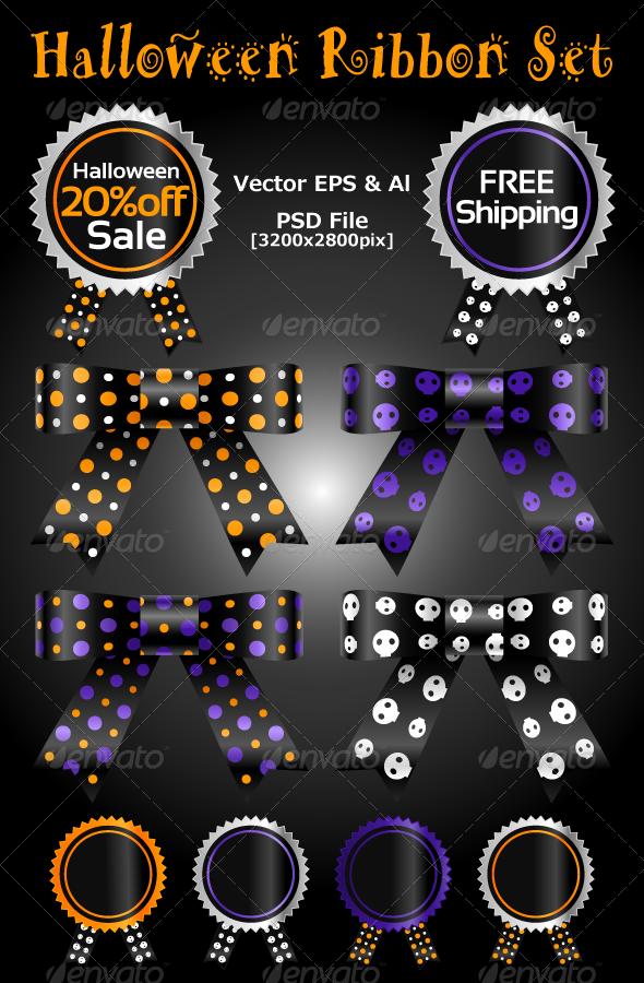 Halloween Ribbon Set - Miscellaneous Vectors