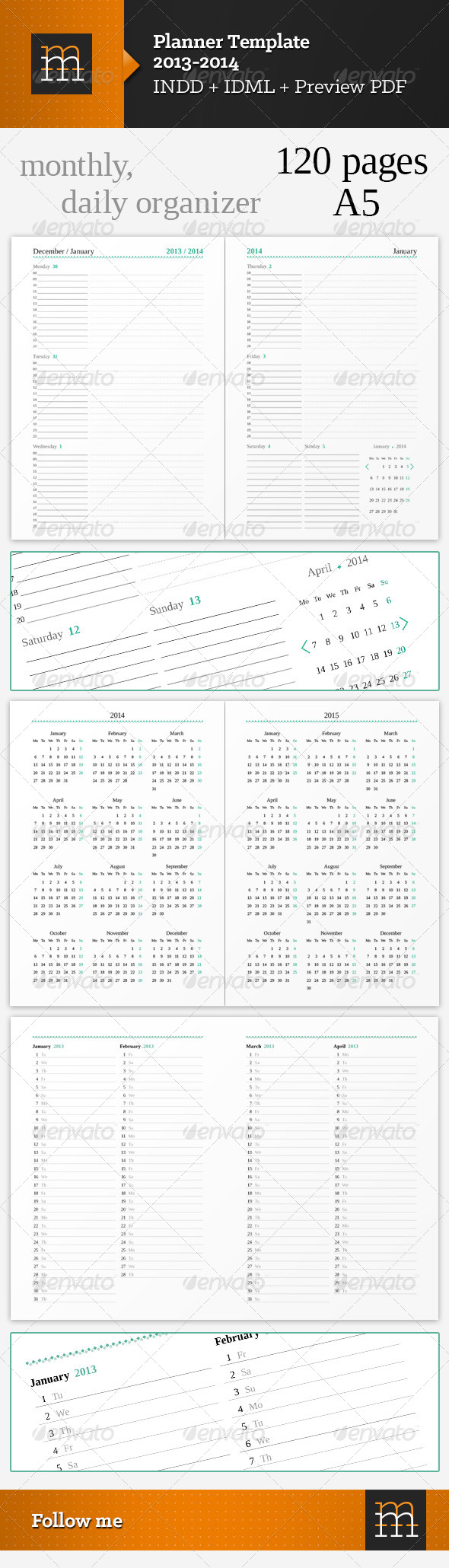 Planner Template 2013-2014 - Calendars Stationery