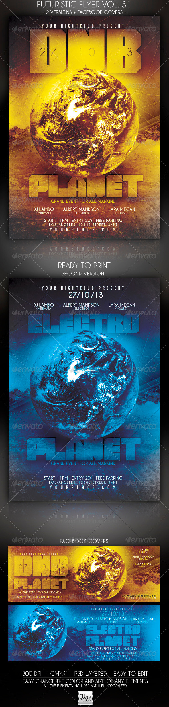 Futuristic Flyer Vol. 31 - Clubs & Parties Events
