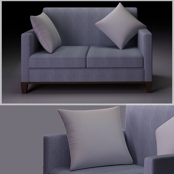 Realistic Sofa Model - 3DOcean Item for Sale