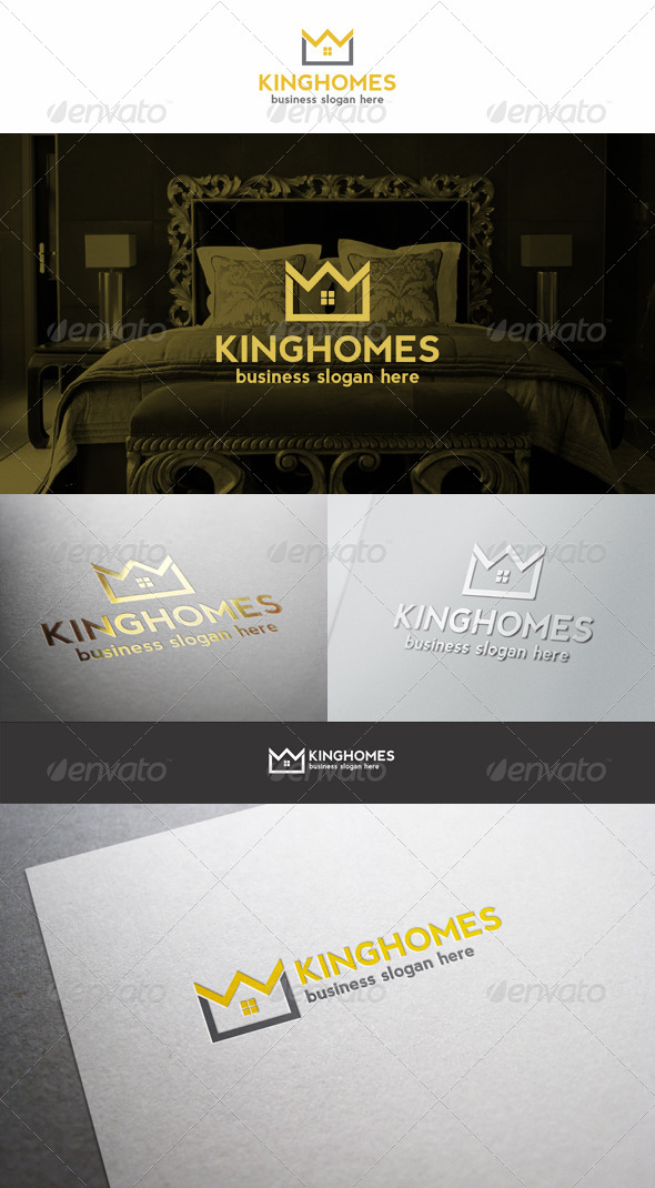 Home Crown Logo King Estate Royal Property - Buildings Logo Templates