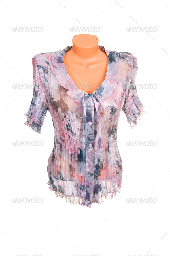 Trendy,stylish  shirt on a white. - Stock Photo - Images