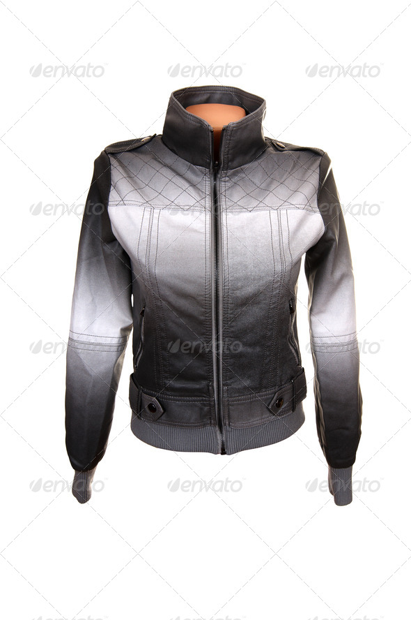 Stylish gray jacket. - Stock Photo - Images