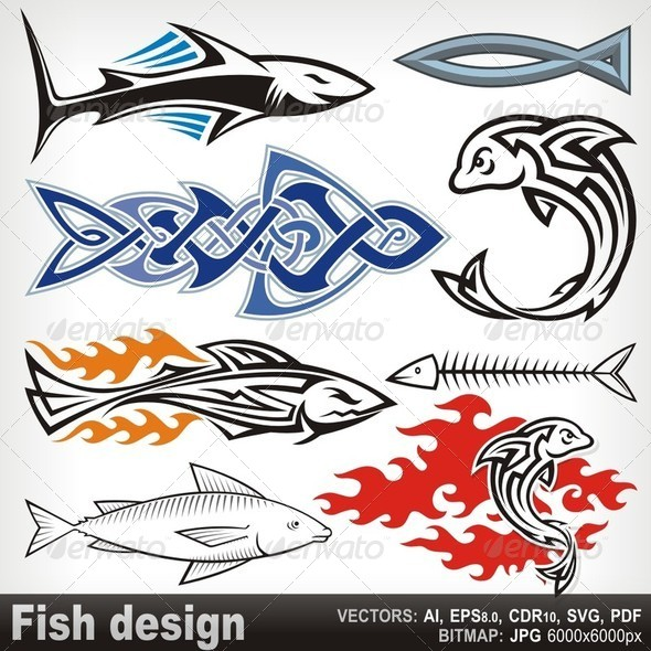 Fish Design - Decorative Symbols Decorative