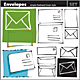 Set of Vector Envelopes Hand-drawn - GraphicRiver Item for Sale