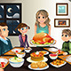 Thanksgiving Family Dinner - GraphicRiver Item for Sale