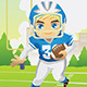 Boy Playing Football - GraphicRiver Item for Sale