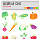 Vegetable Icons - GraphicRiver Item for Sale