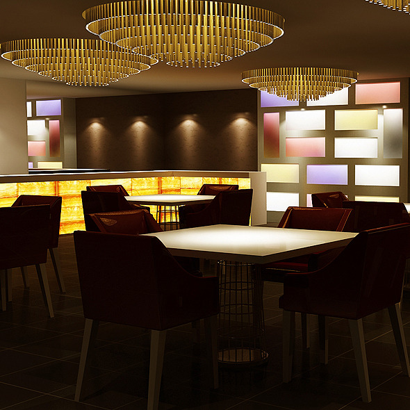 Realistic Bar Interior 3D model - 3DOcean Item for Sale